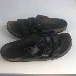 Birkenstock 3 strap Sandals 40 9 Black